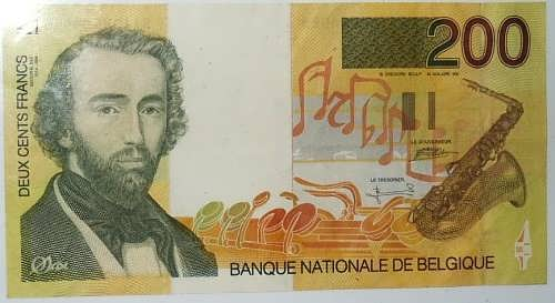 Adolphe Sax on the bank note