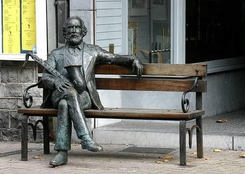 Monument to Adolf Sax in Dinan, Belgium