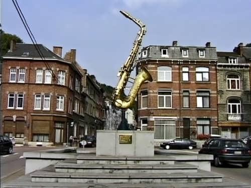 Monument to Saxophone in Dinan, Belgium