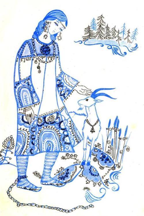 Beautiful Nasto. The Karelian folk tale