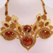 Beautiful amber necklace