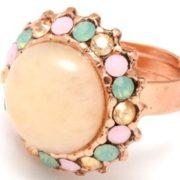 Beautiful ring with aragonite