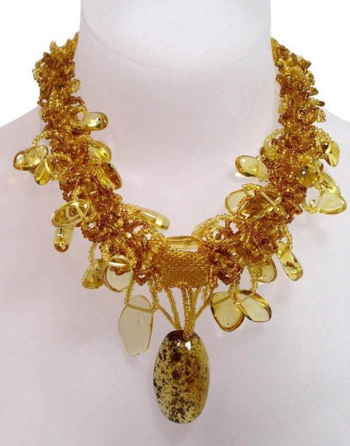 Cute amber necklace