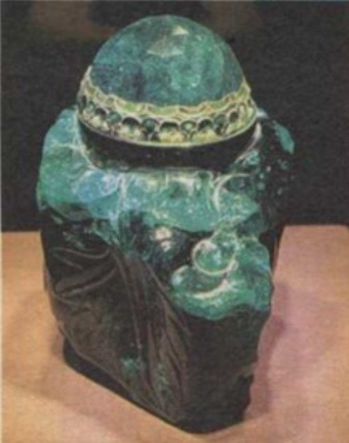Emerald Ungentarium (perfume bottle) from the Viennese imperial treasury, located in the Hofburg Palace