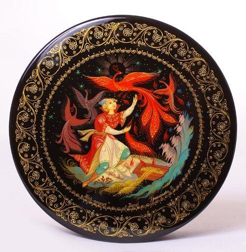 Kholuy lacquer miniature. Firebird