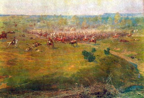 Fragment VII. French cavalry rapidly rushes into the attack
