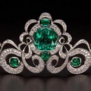 Houston Emerald and Diamond Tiara