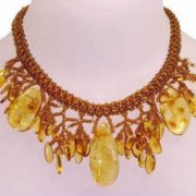 Magnificent amber necklace