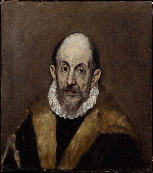 Portrait of an old man. Presumably self-portrait of El Greco