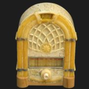 Radio made of amber