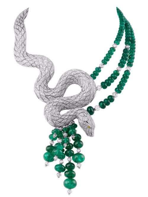 Snake and emeralds