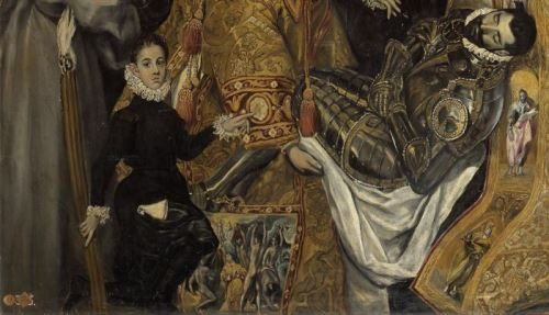 The boy in the picture is the son of El Greco