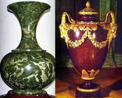 Vases made of jasper