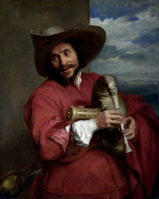 Anthony van Dyck. Portrait of Francois Langlois. 1630