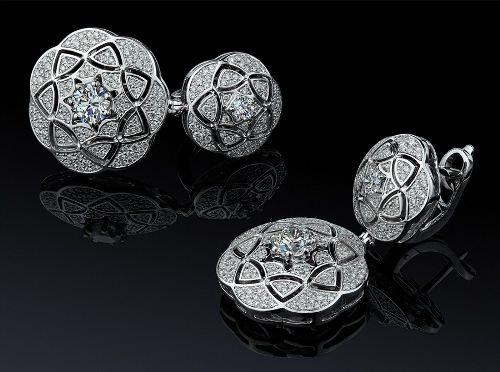 Attractive diamond earrings