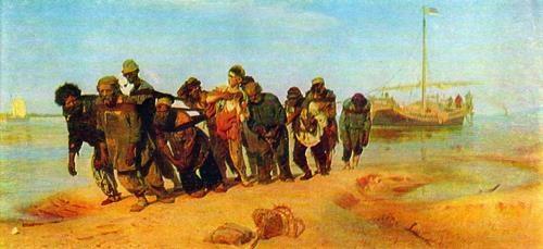 Barge Haulers on the Volga. 1870-1873