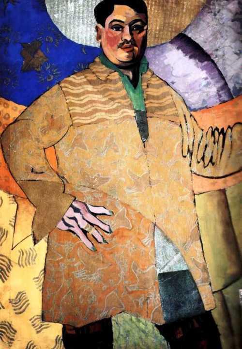Bright paintings by Aristarkh Lentulov. Self-portrait. 1915