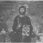 Christ, blessing the emperor Constantine and the Empress Zoya