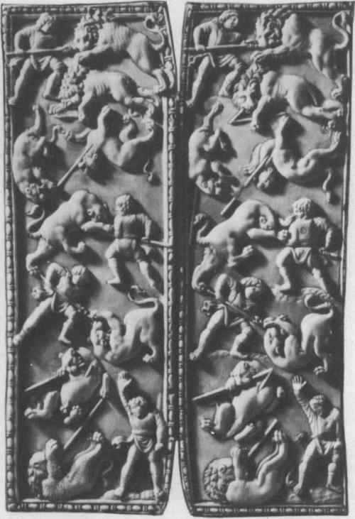 Circus games. Diptych. 450. Ivory. The Hermitage