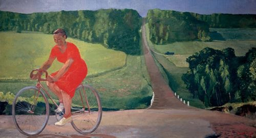 Collective Farm Girl on a Bicycle 1935