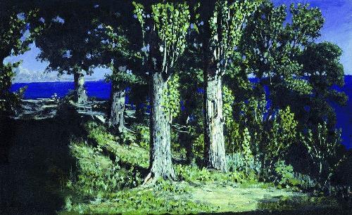 Cypresses on the beach. Crimea, 1887