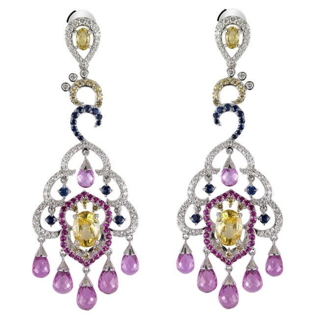Diamonds, citrines, sapphires, tourmalines and peridots.