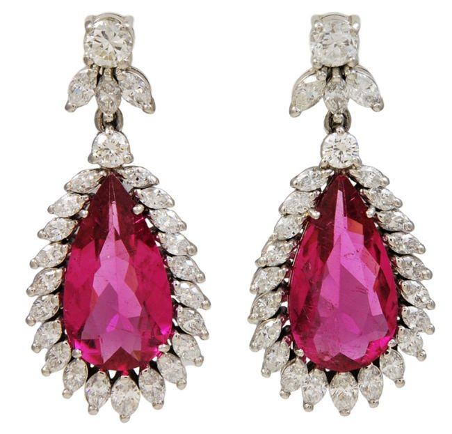 Drop Earrings, tourmaline and diamond by GARRARD & Co.