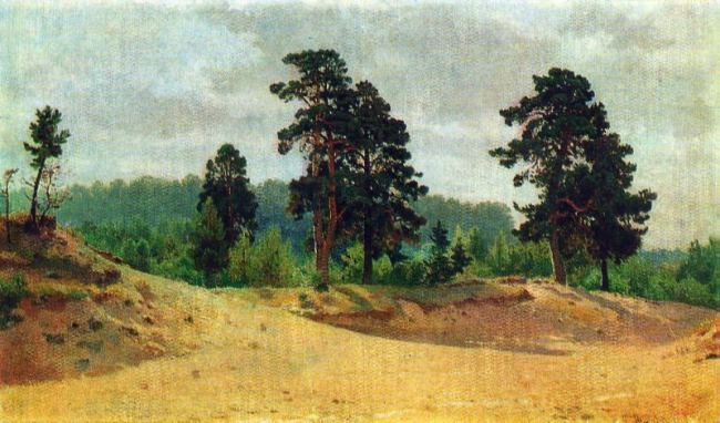 Edge of the forest. 1890