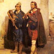 Emile Jean Horace Vernet. Village Musicians, 1832