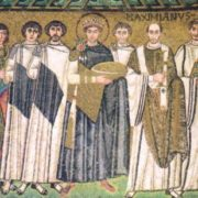 Emperor Justinian I and his servants