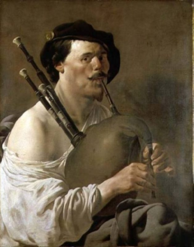 Hendrick Terbrugghen. A Man Playing the Bagpipes