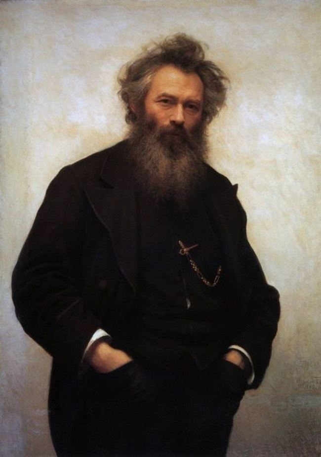 I. Kramskoy. Portrait of the artist Shishkin, 1880