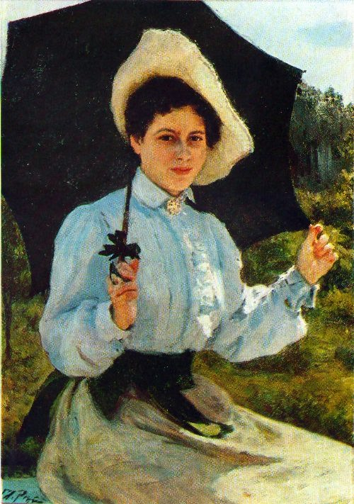 In the sun. 1900