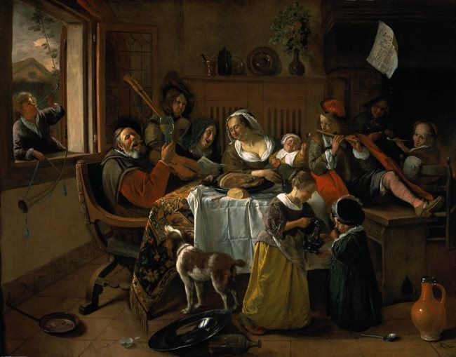 Jan Steen. Merry Family, 1668. Rijksmuseum, Amsterdam