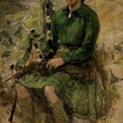 Kate Elizabeth Oliver. Portrait of Charles Higgins, in Highland dress. 1939