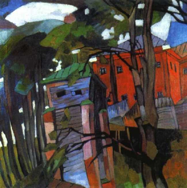 Landscape with a Red House, 1917