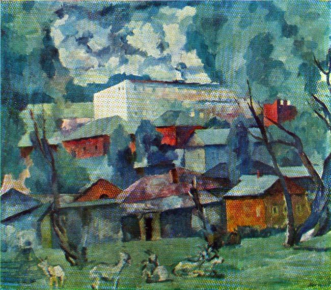 Landscape with goats. 1922