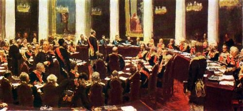 Meeting of the State Council. Sketch. 1901