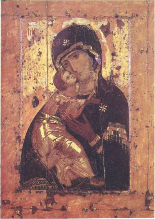 Our Lady of Vladimir. Icon. XI-beginning of XII century. Moscow, Tretyakov Gallery
