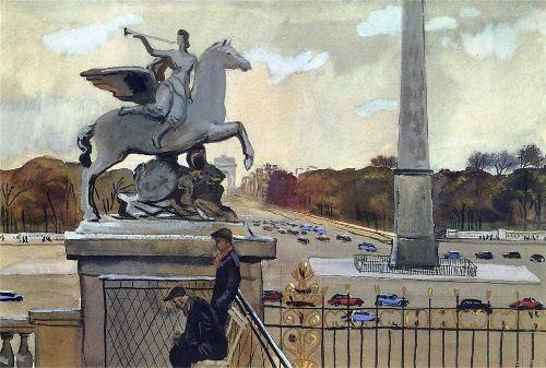 Paris. Place de la Concorde. 1935
