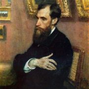 Portrait of P.M. Tretyakov - the founder of the gallery. 1883