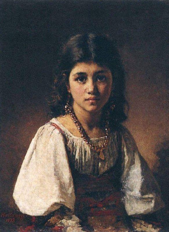 Portrait of a Gypsy Girl