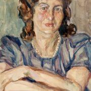 Portrait of actress O. Gzovskaya. 1918