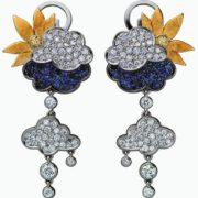 Pretty diamond earrings