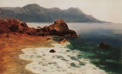 Sea shore. 1885-1890