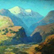 Snowy peaks. Caucasus