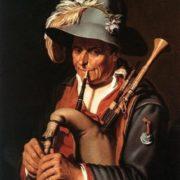 The Bagpiper by Abraham Bloemaert