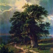 The oaks. Etude. 1865