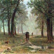 The rain in an oak forest. 1891