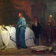 The resurrection of Jairus' daughter. 1871